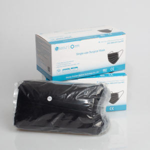Fashion Dustproof Non-woven Medical Face Mask Full Protective Disposable Black-1