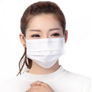 White Color 3 Ply facemask-1